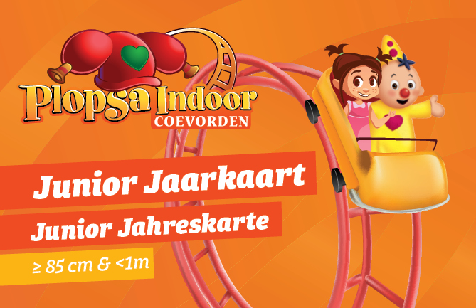 Plopsa Indoor Coevorden Junior Jahreskarte